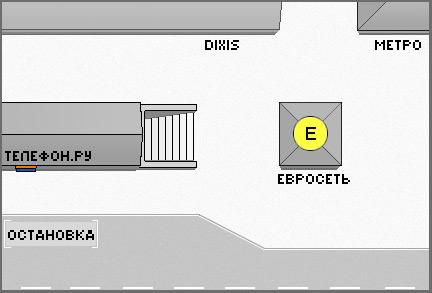 Схема расположения салонов у метро.